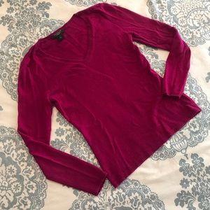 Ann Taylor • Magenta Cashmere Sweater